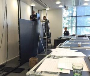 A2 Absen LED-näytön rakentaminen Tieto Capital Market Day